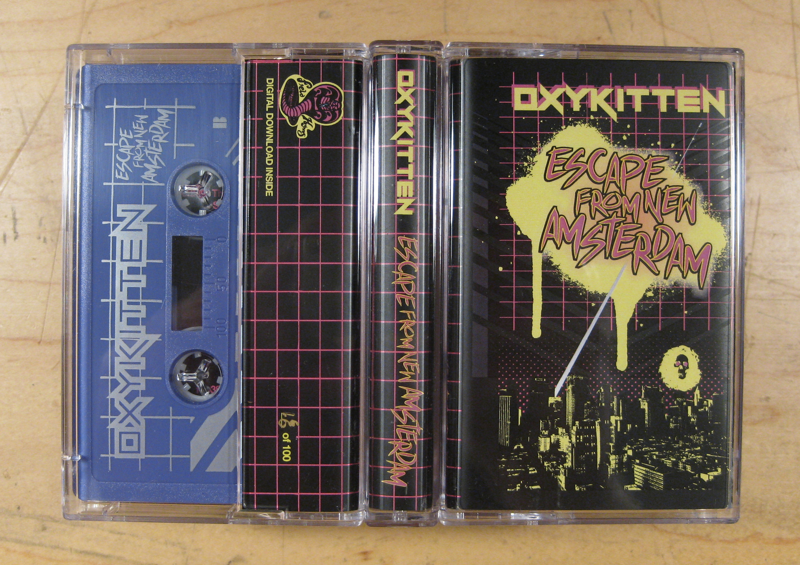 oxykitten, escape from new amsterdam, cassette, portland, oregon